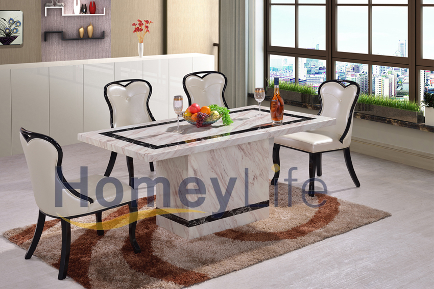 Rectangular Marble Dining Table Ht04